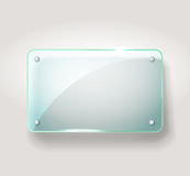 Glass advertising board Stock Photos