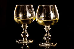 Glass and alcohol Royalty Free Stock Photos
