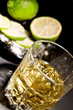 Glass of alcohol drink Stock Photo