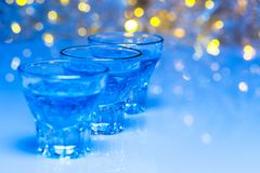 Glass with alcohol drink Royalty Free Stock Image