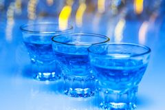 Glass with alcohol drink Royalty Free Stock Photography