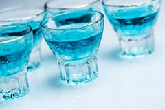 Glass with alcohol drink Stock Images