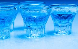 Glass with alcohol drink Stock Photo