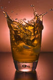 Glass of alcoholic drink Stock Images
