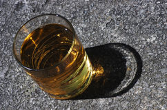 A glass of alcoholic drink Stock Photography