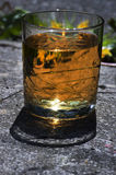 A glass of alcoholic drink Royalty Free Stock Photo
