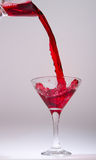 Glass for alcoholic drinks Stock Images