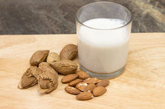 A glass of almond milk Stock Photography