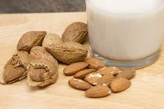A glass of almond milk Stock Photo