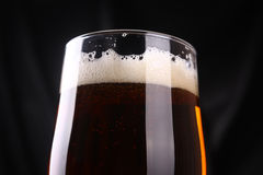 Glass of amber ale Stock Image