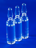 Glass ampules with medicine Royalty Free Stock Photography