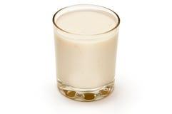 glass ananasyoghurt arkivfoto