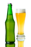 Glass And Bottle Of Beer Royalty Free Stock Photography