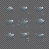 Glass anförandebubblauppsättning Glass anförandebubblor för vektor som isoleras på genomskinlig bakgrund royaltyfri illustrationer