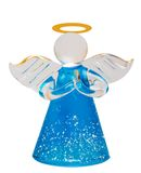 Glass Angel. Glass Christmas Angel isolated on white background royalty free stock photo