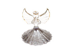 Glass Angel. Photo on the white background Stock Images