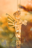 Glass angel in christmas tree Royalty Free Stock Photo