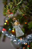 Glass angel on Christmas tree Royalty Free Stock Photos