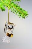 Glass angel hanging on Christmas tree Stock Photos