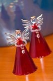 Glass angels still life Royalty Free Stock Images