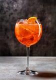 Glass of aperol spritz cocktail Stock Photos