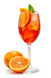 Glass of aperol spritz cocktail Royalty Free Stock Photos