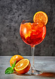 Glass of aperol spritz cocktail Royalty Free Stock Image