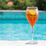 Glass of Aperol Spritz Royalty Free Stock Photos