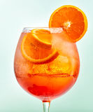 Glass of aperol spritz cocktail Stock Photography