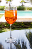 Glass of Aperol Spritz Royalty Free Stock Photo