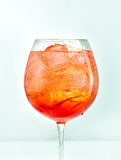Glass of aperol spritz cocktail Royalty Free Stock Photography