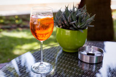 Glass of Aperol Spritz Stock Photos