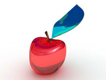 Glass Apple Arkivfoton