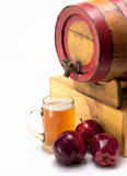 Glass of apple cider Royalty Free Stock Image