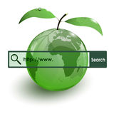 Glass apple fruit earth map www bar Royalty Free Stock Photos