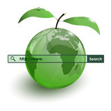 Glass apple fruit earth map www bar Royalty Free Stock Images