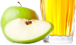 Glass of apple juice Royalty Free Stock Photos
