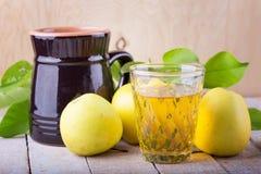 Glass of apple juice Stock Photo