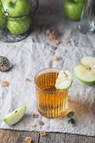 Glass of apple juice stock photos