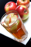 Glass of apple juice with ice Royalty Free Stock Photo