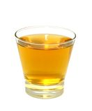 Glass of apple juice isolated on white. Background Stock Images