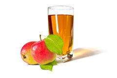 A glass of apple juice Stock Image