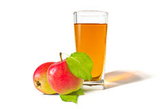 A glass of apple juice Royalty Free Stock Images