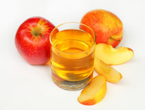 Glass of apple juice. Studio shot Stock Photo
