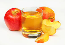 Glass of apple juice. Studio shot Royalty Free Stock Images