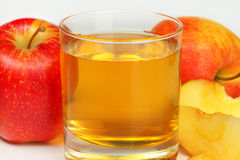 Glass of apple juice Stock Photo