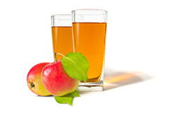 A glass of apple juice Royalty Free Stock Photos