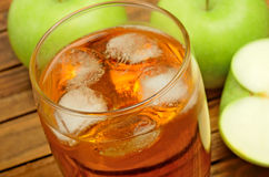 Glass with apple juice Royalty Free Stock Photography