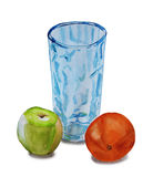 A glass of apple and orange Royalty Free Stock Photos