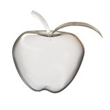 Glass apple on a white background. 3D rendering Royalty Free Stock Images